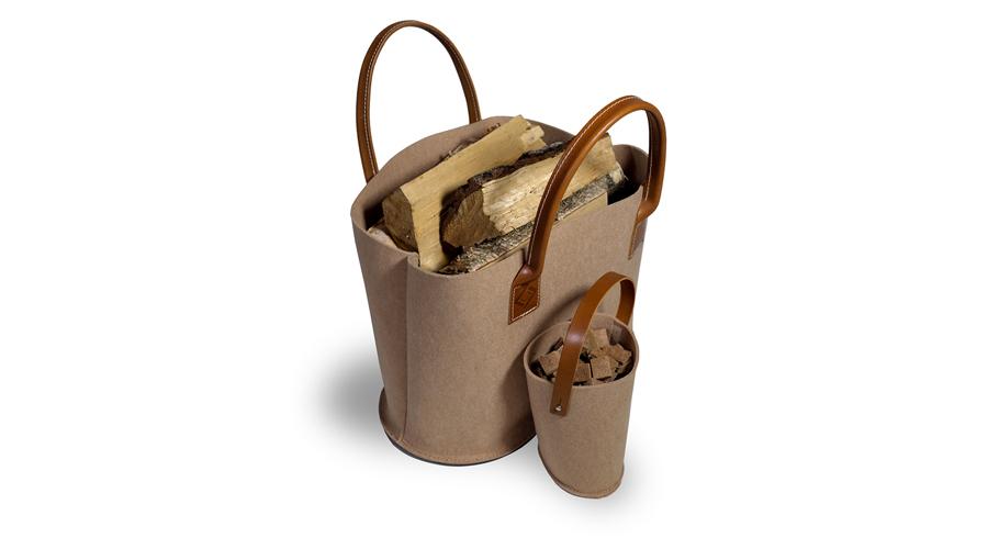 Holztasiche, Filz, braun